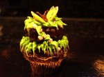 Tiny Butterfly Cupcake Dipped in Chocolate