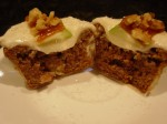 Apple cupcake with caramel apple topping