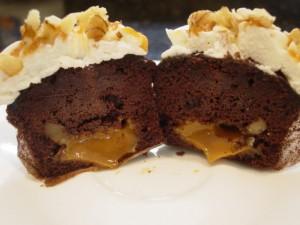 Chocolate Cupcake With Caramel Filling