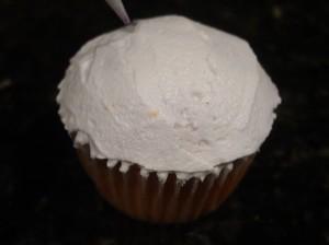 Vanilla Icing on Cupcake