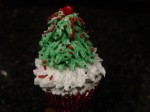 Christmas Tree Cupcake Figure Piped With Cake Decorators Icing