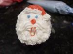 Santa Face Cupcake