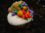 Cornucopia Cupcake Made From Fondant