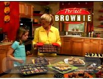 perfect brownie pan display in kitchen
