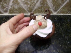 hot tamale candy used for the reindeer cupcakes nose