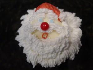 Santa cupcake with hat