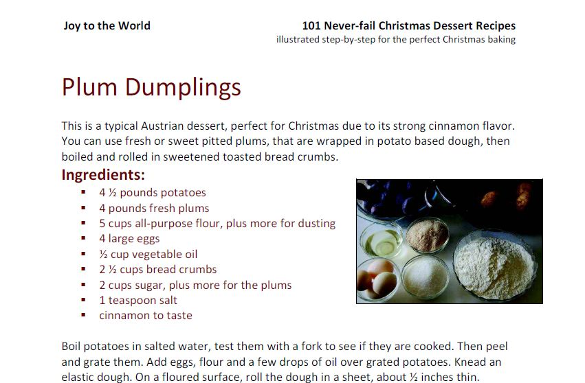Theo's Plum Dumpling Ingredients