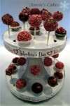 Valentine Cake Pops On Display Stand