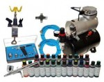 Cake Decorators Airbrush Kit With Dual Hose, Guns and Colors