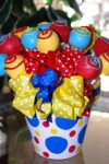 cake pops bucket for springtime