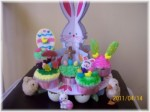 Easter Cupcakes on Bunny Display Stand