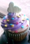 Marshmallow Bunny Topped Easter Cupcake Idea