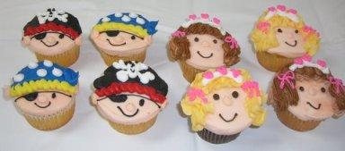 Pirate and Princess Cupcakes