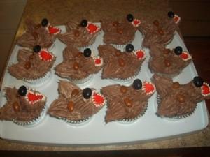 Wolf Cupcakes in cupcake pan