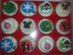 Christmas Cupcakes by eleaine Graham