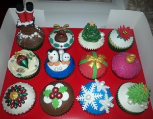 Christmas Cupcakes in a Box