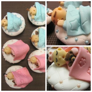 fondant babies and blankets by Mika Iniquez